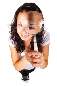 Looking through a huge magnifying glass