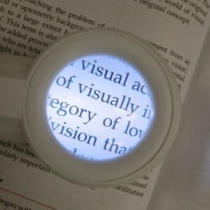 Powerful magnifying glass with light