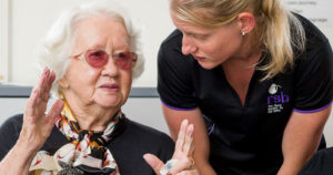 Helping visually impaired senior