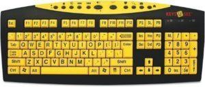 high contrast, large letter keyboard